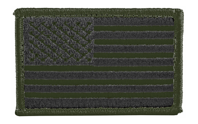 BH PATCH AMERICAN FLAG WH&L OD/BLK - for sale