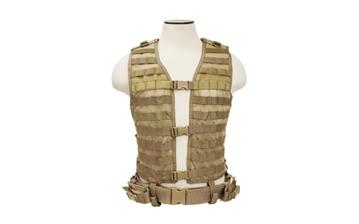 NCSTAR VISM MOLLE VEST MED-2XL TAN - for sale