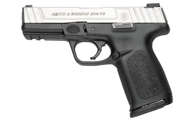"S&W SD9VE 9MM 4"" FS 10-SHOT SILVER SS SLIDE/BLACK POLY - for sale"